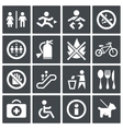 International signs icon set vector