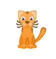 Cartoon cat looks like tiger cute kitten tiger cub vector