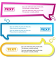 Colorful banner for text vector
