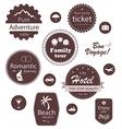 Travel and vacation emblems set vector