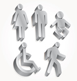Set icon man woman baby vector