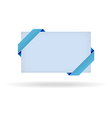 Blue gift card with dotted ribbon vector