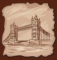 Old tower bridge vector