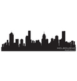 Melbourne australia skyline detailed silhouette vector