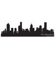 Melbourne australia skyline detailed silhouette vector