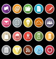 Web and internet icons with long shadow vector