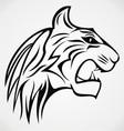 Tiger head tattoo design vector