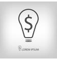 Bulb with dollar as business idea sign vector