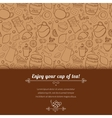 Tea and sweets background vector