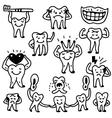 Teeth doodles vector