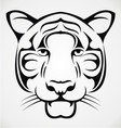 Tribal tiger face vector