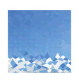 Blue sea surf abstract low polygon background vector
