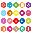General hospital flat icons on white background vector