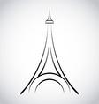 Eiffel tower design vector