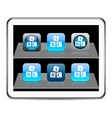 Abc cubes blue app icons vector