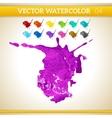 Purple watercolor artistic splash for design and vector
