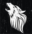 Wolf head grunge vector