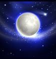 Moon in the night sky vector