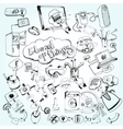 Internet of things doodles vector