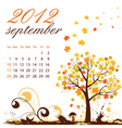 Calendar for 2012 september vector