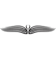 Ornament wing silhouette vector
