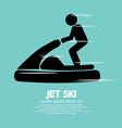 Jet ski sport sign vector