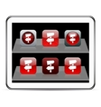 Road arrows red app icons vector