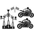 Motorcycle sport vector