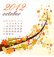 Calendar for 2012 october vector