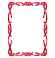 Red ribbon frame isolated on white vector