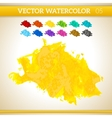 Sunshine yellow watercolor artistic splash for vector