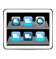 Delivery blue app icons vector