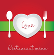 Love menu vector