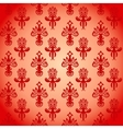 Pattern in the old style with curls vector