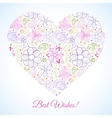 Ornate heart with pattern vector