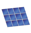 Solar panel in blue color vector