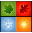 Four seasons background vector