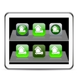 Camper green app icons vector