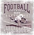 Touchdown american football vector