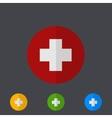 Modern circle icons set on gray vector