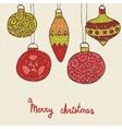 Christmas hand drawn decorative postcard with xmas vector