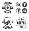 The retro coffee logos bundle vector