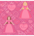 Seamless pattern with princess vector