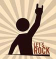 Hard rock design vector