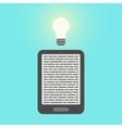 E-book and light bulb vector