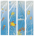 Underwater sealife set vector