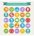 Technology icons set vector