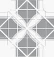 Seamless white diagonal square layered ornament vector