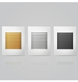 Window louvers in frame vector