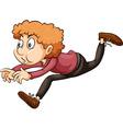 A boy running through the hoop vector